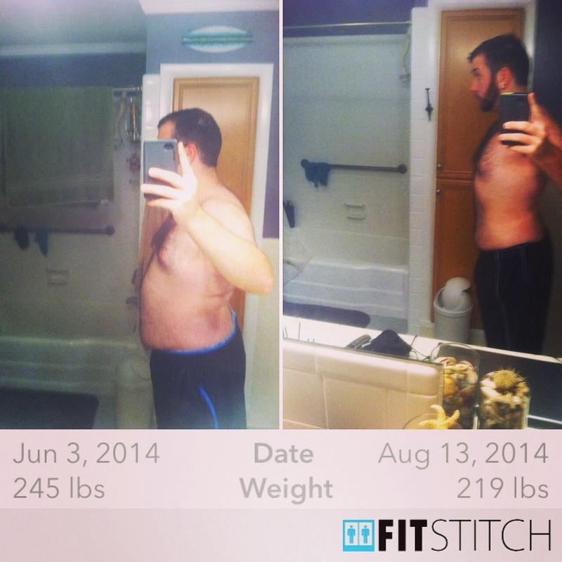 5 feet 11 Male 26 lbs Weight Loss 245 lbs to 219 lbs