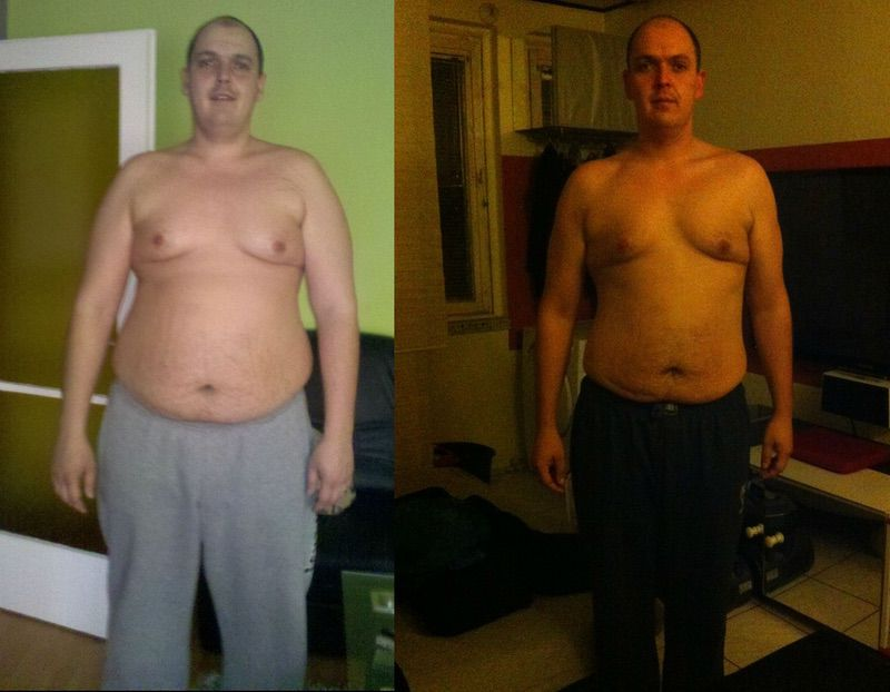 6'5 Male Before and After 102 lbs Fat Loss 352 lbs to 250 lbs