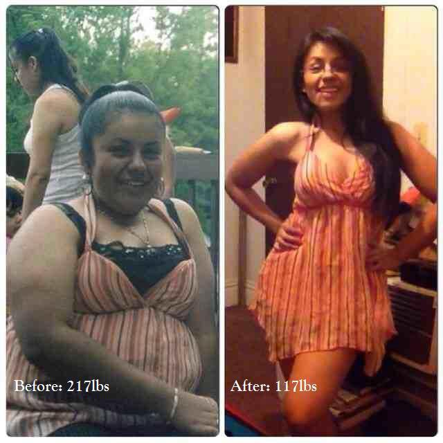 5 foot Female 100 lbs Weight Loss Before and After 217 lbs to 117 lbs