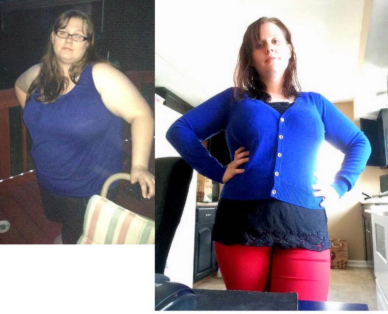105 lbs Fat Loss 5'4 Female 285 lbs to 180 lbs