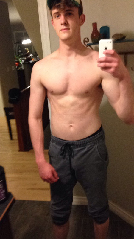 6'3 Male 24 lbs Weight Gain Before and After 138 lbs to 162 lbs