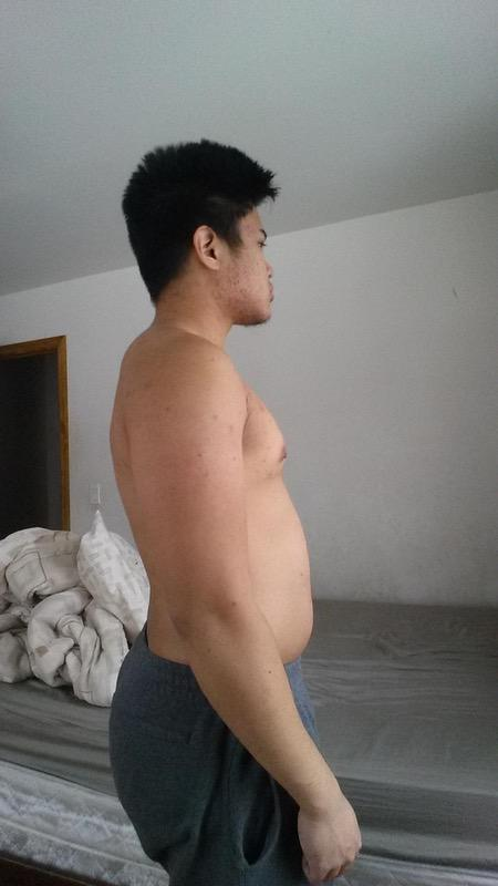 3 Photos of a 5 foot 11 200 lbs Male Weight Snapshot
