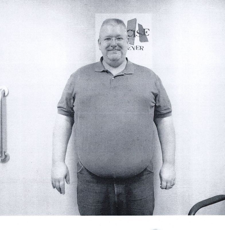 Before and After 100 lbs Weight Loss 6 foot 1 Male 375 lbs to 275 lbs