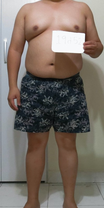 4 Photos of a 5'3 175 lbs Male Weight Snapshot