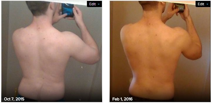 6 foot Male 25 lbs Weight Loss Before and After 219 lbs to 194 lbs
