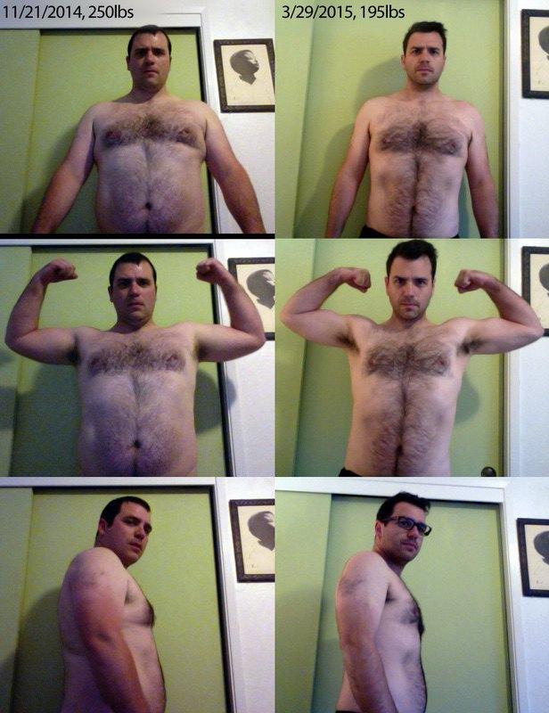 Progress Pics of 55 lbs Fat Loss 5 feet 9 Male 250 lbs to 195 lbs