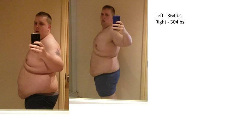 5'11 Male Progress Pics of 58 lbs Fat Loss 364 lbs to 306 lbs