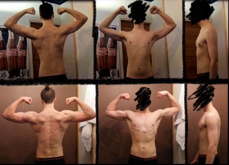 6 feet 5 Male 14 lbs Muscle Gain Before and After 177 lbs to 191 lbs