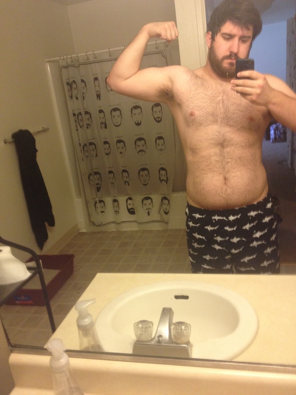 6 foot Male 25 lbs Fat Loss Before and After 230 lbs to 205 lbs