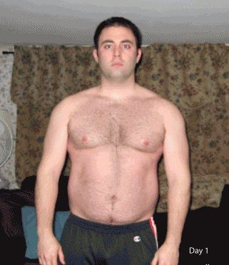 6 foot Male 47 lbs Weight Loss Before and After 227 lbs to 180 lbs