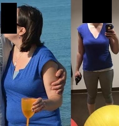 5 feet 5 Female Before and After 10 lbs Weight Loss 160 lbs to 150 lbs