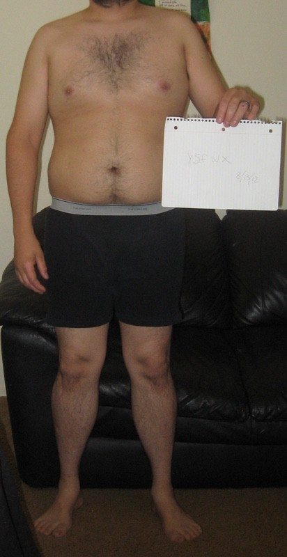 4 Pictures of a 5 feet 6 190 lbs Male Weight Snapshot