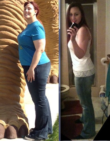 80 lbs Weight Loss Before and After 5'7 Female 252 lbs to 172 lbs