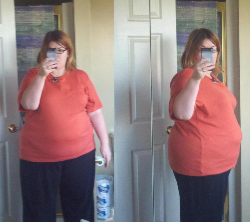 107 lbs Fat Loss Before and After 5 feet 4 Female 294 lbs to 187 lbs