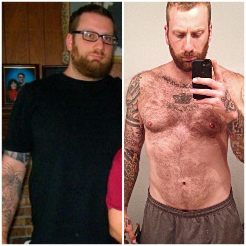 6 foot Male Before and After 130 lbs Weight Loss 325 lbs to 195 lbs