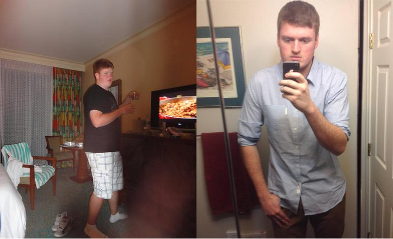 6 feet 6 Male 40 lbs Weight Loss Before and After 250 lbs to 210 lbs