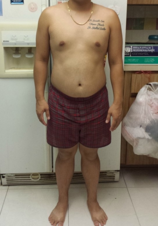 4 Pictures of a 5 foot 3 165 lbs Male Weight Snapshot