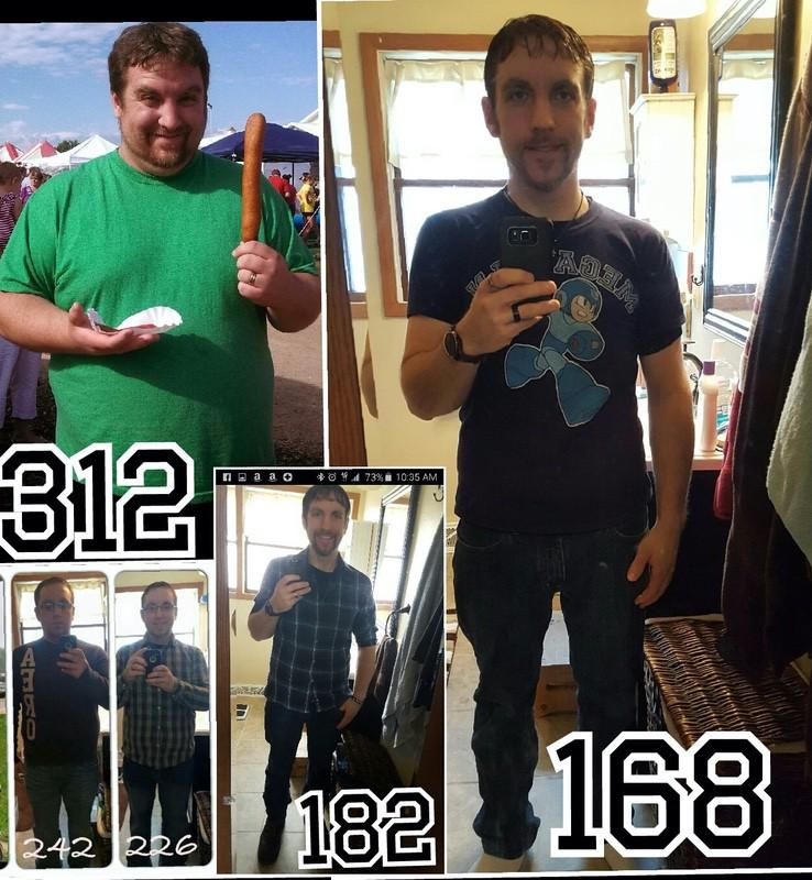 Progress Pics of 144 lbs Fat Loss 5 foot 9 Male 312 lbs to 168 lbs