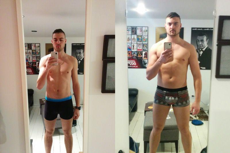 6'2 Male 35 lbs Muscle Gain 190 lbs to 225 lbs