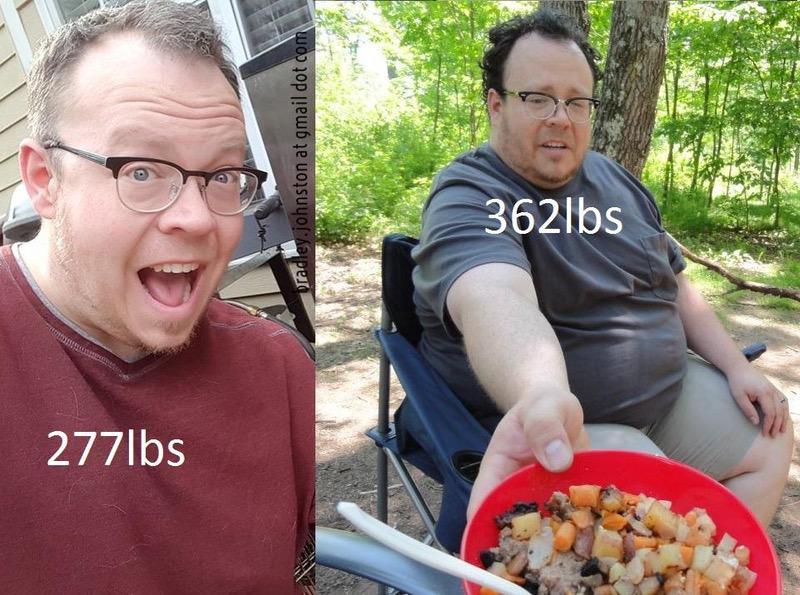 5 feet 10 Male Progress Pics of 85 lbs Fat Loss 362 lbs to 277 lbs