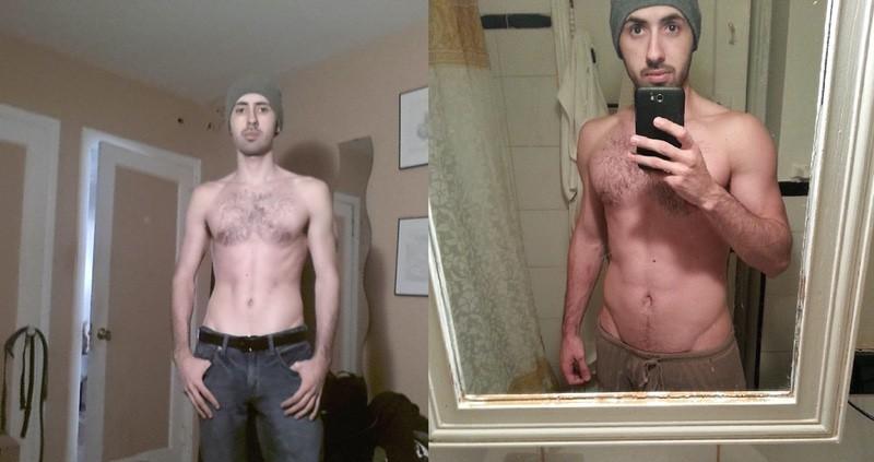 Progress Pics of 35 lbs Muscle Gain 6'1 Male 135 lbs to 170 lbs