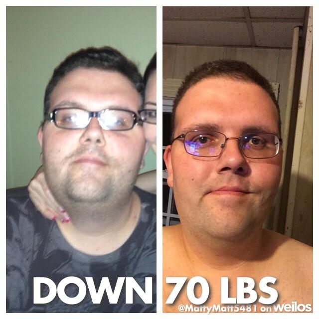 71 lbs Fat Loss 6 feet 4 Male 430 lbs to 359 lbs