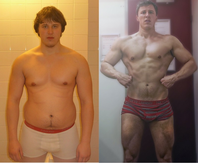 Before and After 30 lbs Weight Loss 6 feet 2 Male 230 lbs to 200 lbs