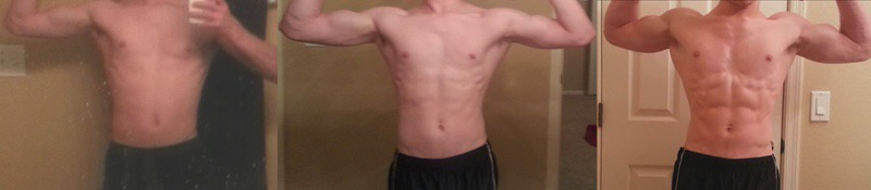 Before and After 19 lbs Weight Gain 5 foot 9 Male 112 lbs to 131 lbs