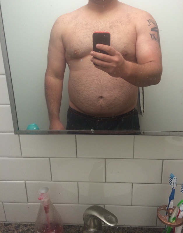 5 foot 11 Male Before and After 81 lbs Weight Loss 276 lbs to 195 lbs