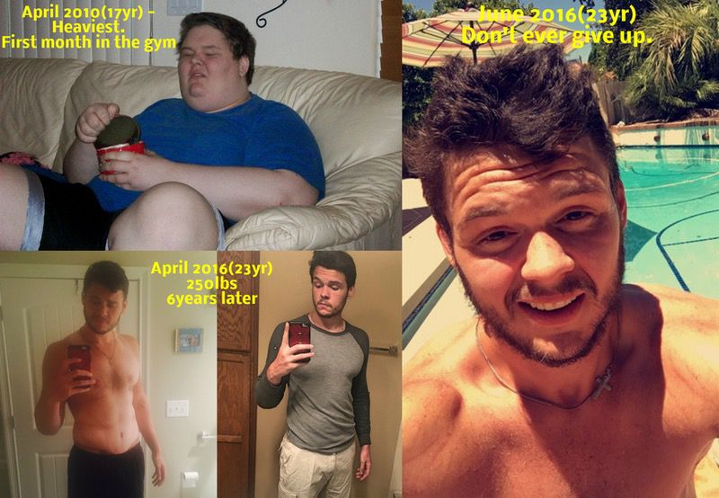6 feet 6 Male 350 lbs Fat Loss Before and After 600 lbs to 250 lbs