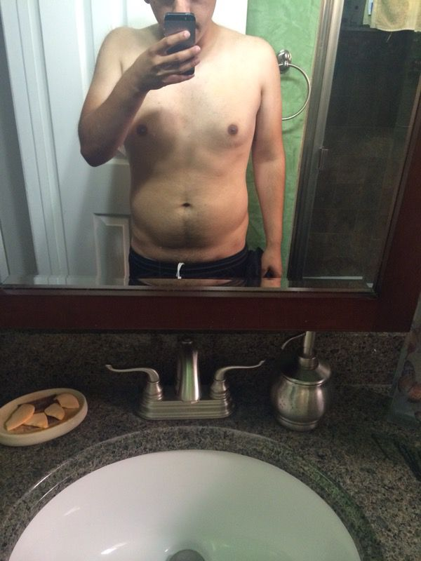 5 feet 7 Male 30 lbs Fat Loss Before and After 180 lbs to 150 lbs