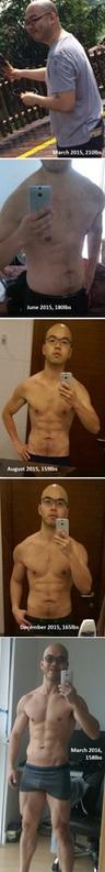 5'9 Male 52 lbs Weight Loss 210 lbs to 158 lbs