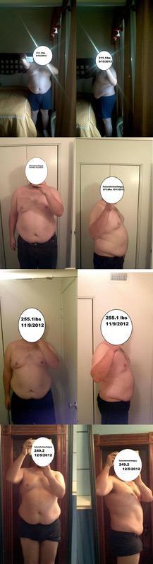 5'10 Male 62 lbs Weight Loss 311 lbs to 249 lbs