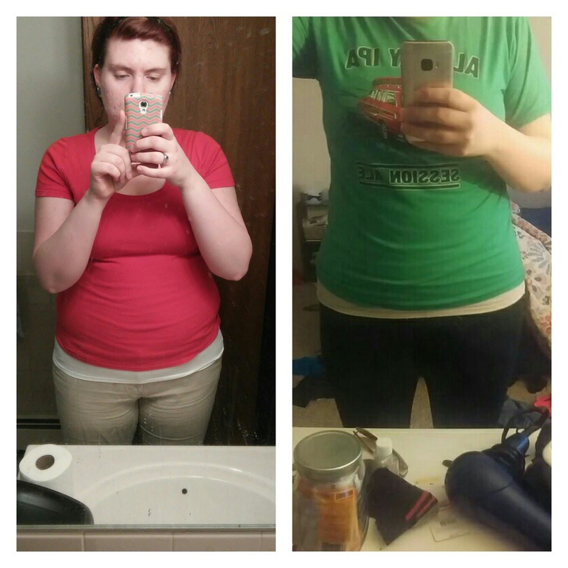 24 lbs Weight Loss Before and After 5 foot 11 Female 250 lbs to 226 lbs