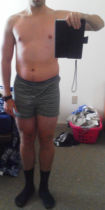4 Pictures of a 210 lbs 6 feet 2 Male Fitness Inspo