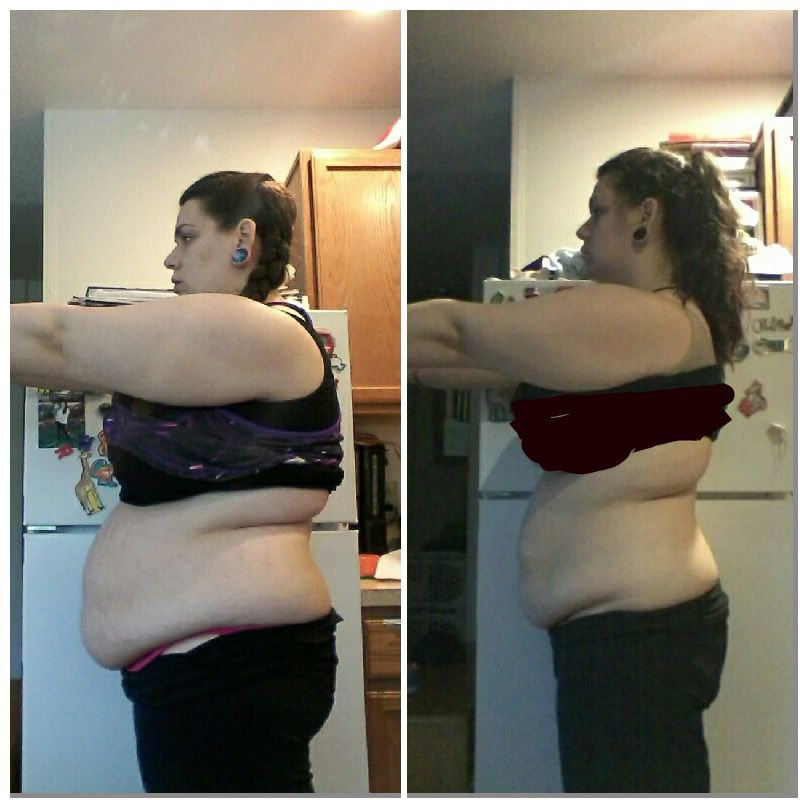 5'6 Female Before and After 44 lbs Weight Loss 274 lbs to 230 lbs