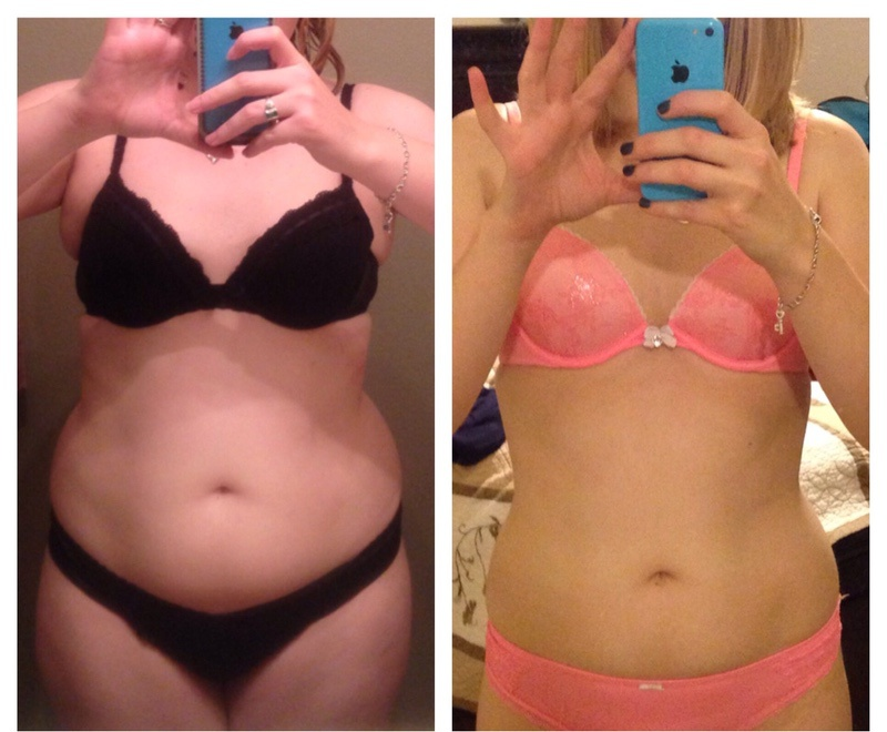 5 foot Female 57 lbs Weight Loss Before and After 190 lbs to 133 lbs