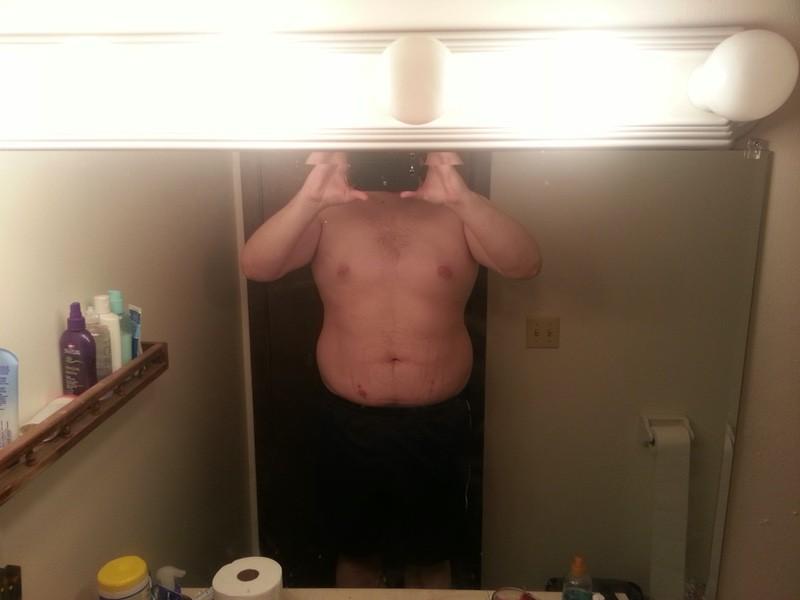 6'5 Male Progress Pics of 51 lbs Fat Loss 316 lbs to 265 lbs