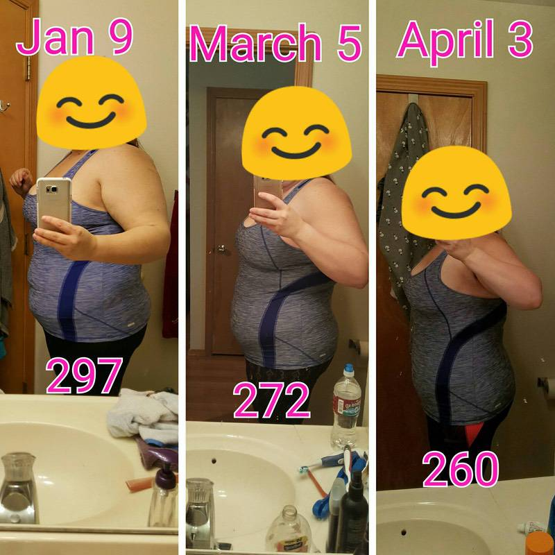5'8 Female Before and After 37 lbs Weight Loss 297 lbs to 260 lbs