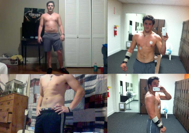 5 feet 9 Male Before and After 13 lbs Fat Loss 185 lbs to 172 lbs