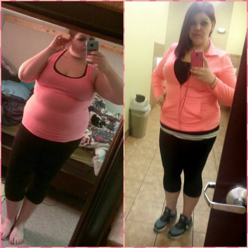 50 lbs Fat Loss Before and After 5'9 Female 299 lbs to 249 lbs