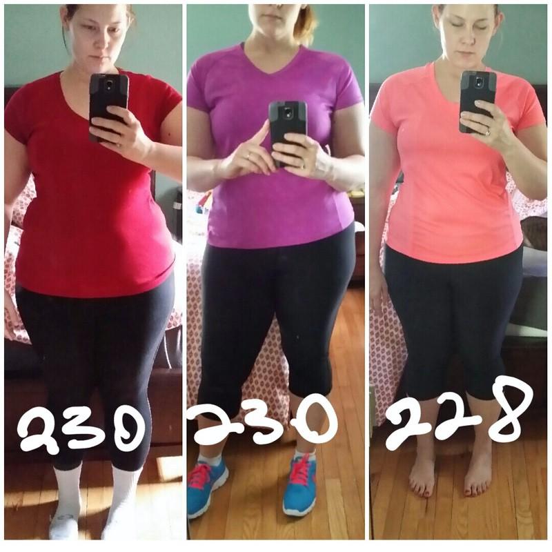 5 feet 10 Female 2 lbs Weight Loss 230 lbs to 228 lbs