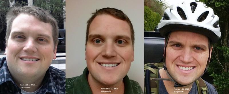 6 foot Male Progress Pics of 100 lbs Weight Loss 350 lbs to 250 lbs