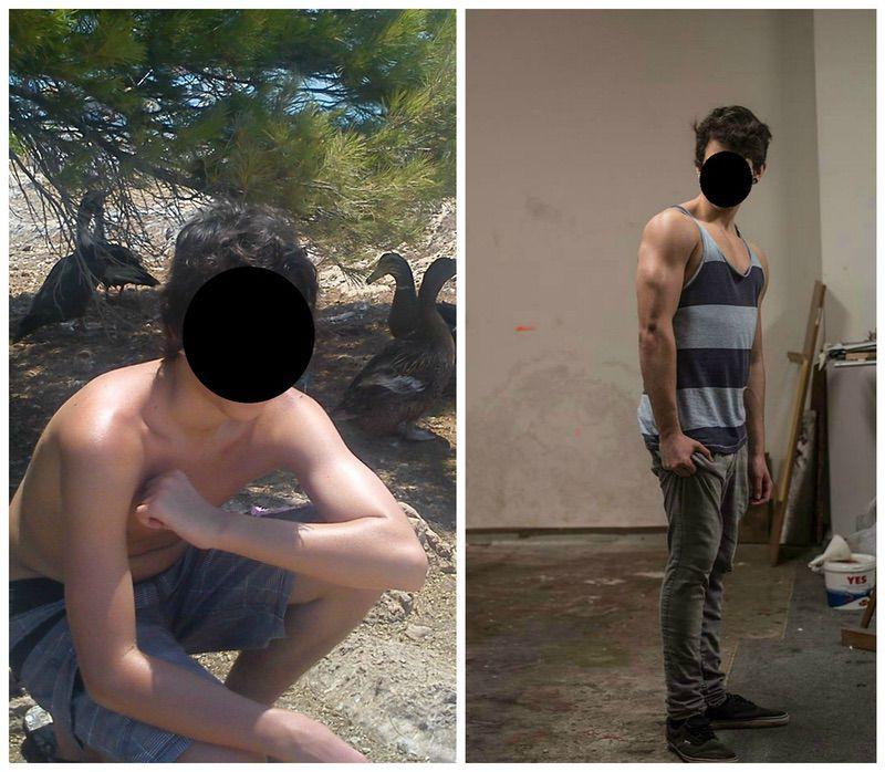 Progress Pics of 40 lbs Muscle Gain 6 foot Male 130 lbs to 170 lbs