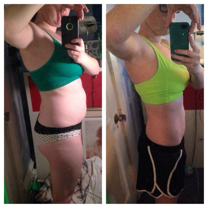 5'3 Female 25 lbs Fat Loss Before and After 137 lbs to 112 lbs