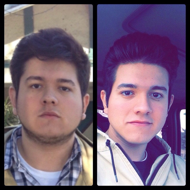 Before and After 85 lbs Fat Loss 6 foot 3 Male 305 lbs to 220 lbs