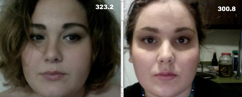 5'11 Female 23 lbs Weight Loss Before and After 323 lbs to 300 lbs