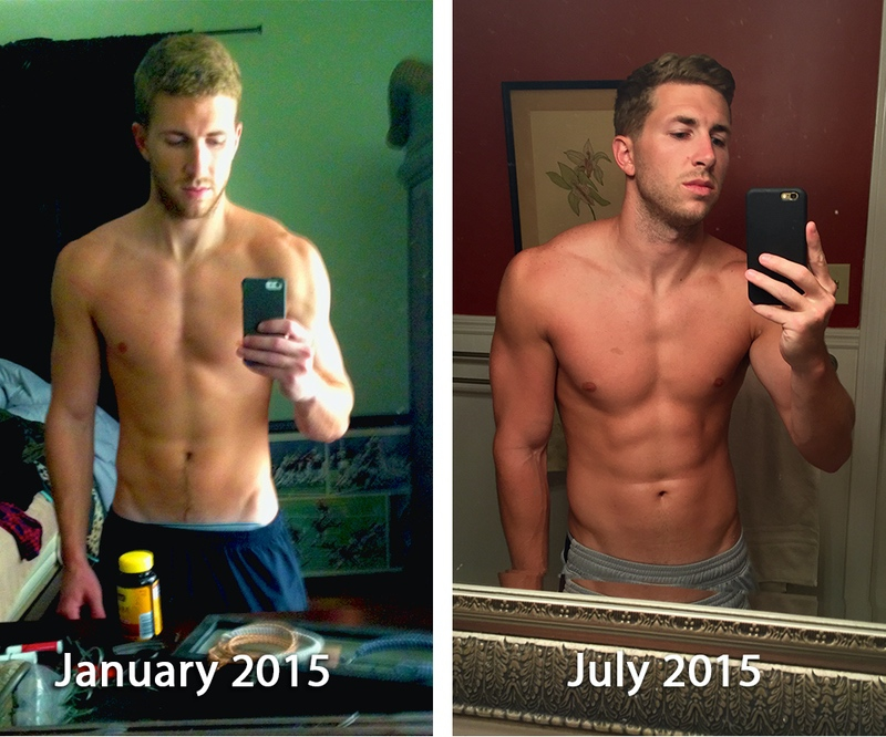 Before and After 10 lbs Weight Gain 5 foot 11 Male 157 lbs to 167 lbs