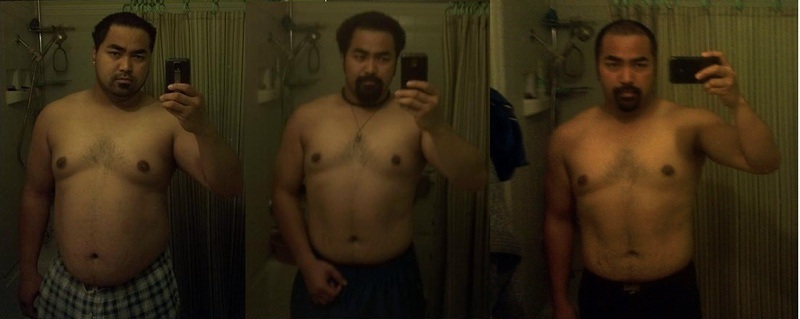 5 feet 8 Male Before and After 46 lbs Fat Loss 255 lbs to 209 lbs