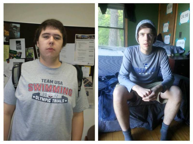 6 feet 2 Male Before and After 100 lbs Weight Loss 270 lbs to 170 lbs